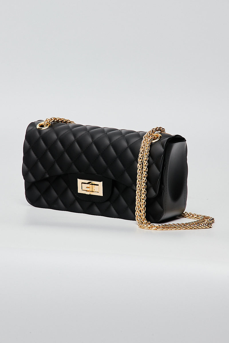 Quilt Jelly Bag-BLACK - Fashion House USA