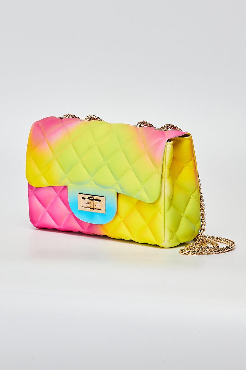 Small Quilt Cross body Bag-RAINBOW-2 - Fashion House USA