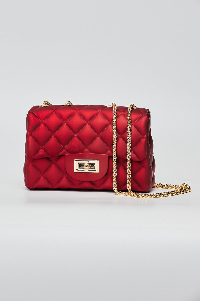Small Quilt Cross body Bag-RED - Fashion House USA