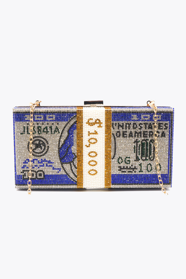 Must Have Sexy 10k Money Clutch Crossbody Bag Royal - Fashion House USA