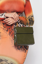 Wooden Handle Vixen Bag in Olive - Fashion House USA
