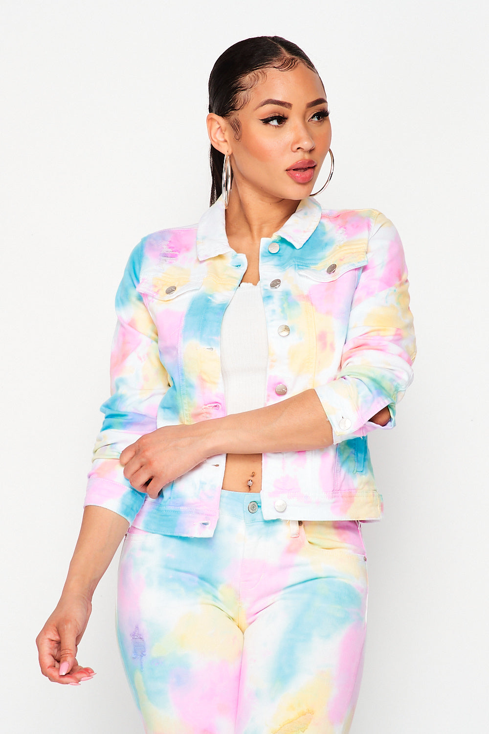 Candy Denim Tie-Dye Jacket - Fashion House USA
