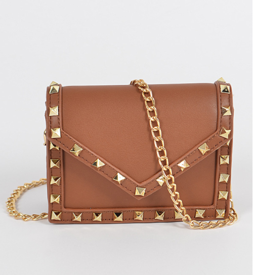 Must Have Studded Mini Bag-CAMEL - Fashion House USA