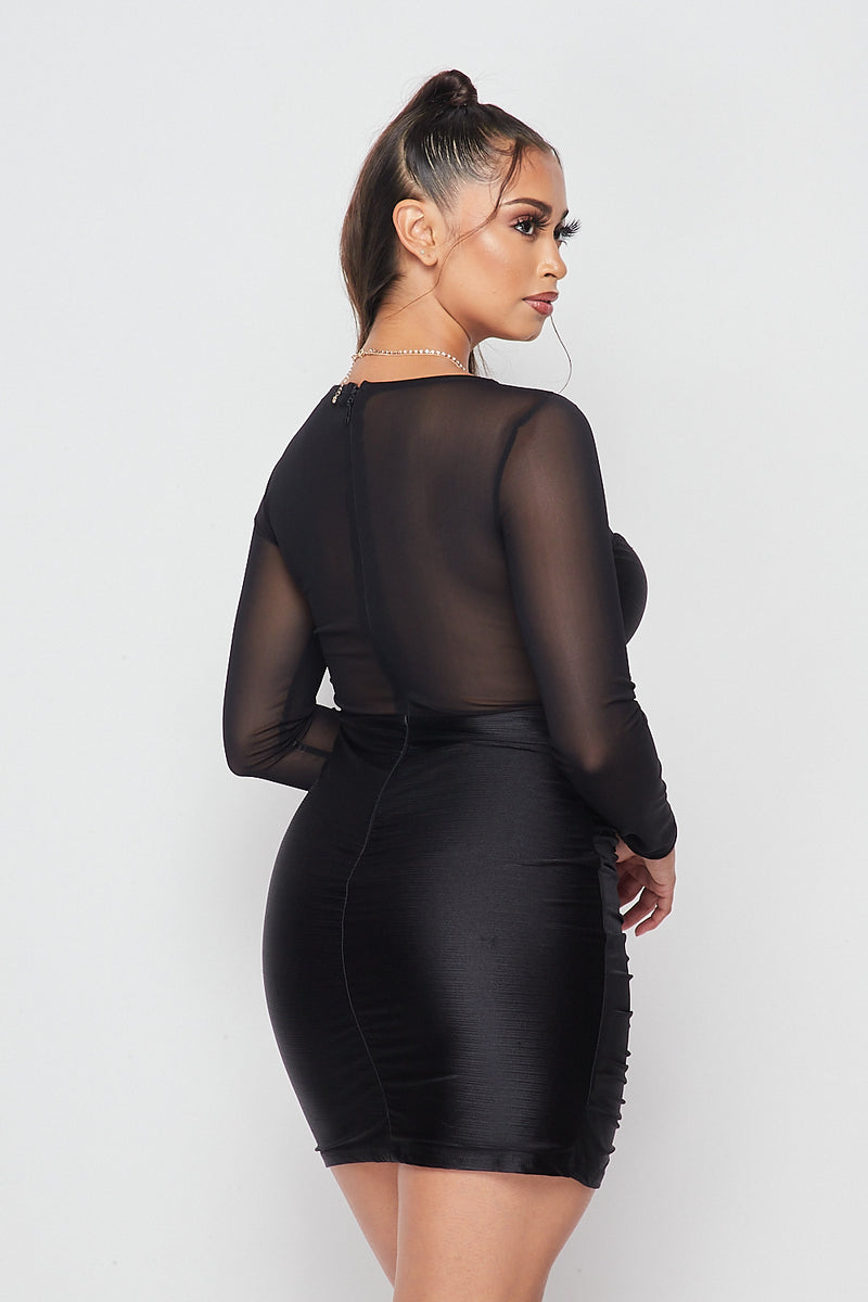 Sexy Ruched Bodycon Dress - Fashion House USA