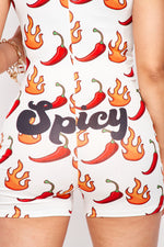 Spicy Red Hot Chili Pepper Romper Pajama - Fashion House USA
