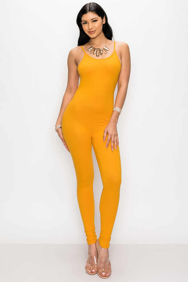 Classic Selfie Jumpsuit-MUSTARD - Fashion House USA