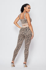 Sexy Leopard Crop top and pants Set - Fashion House USA