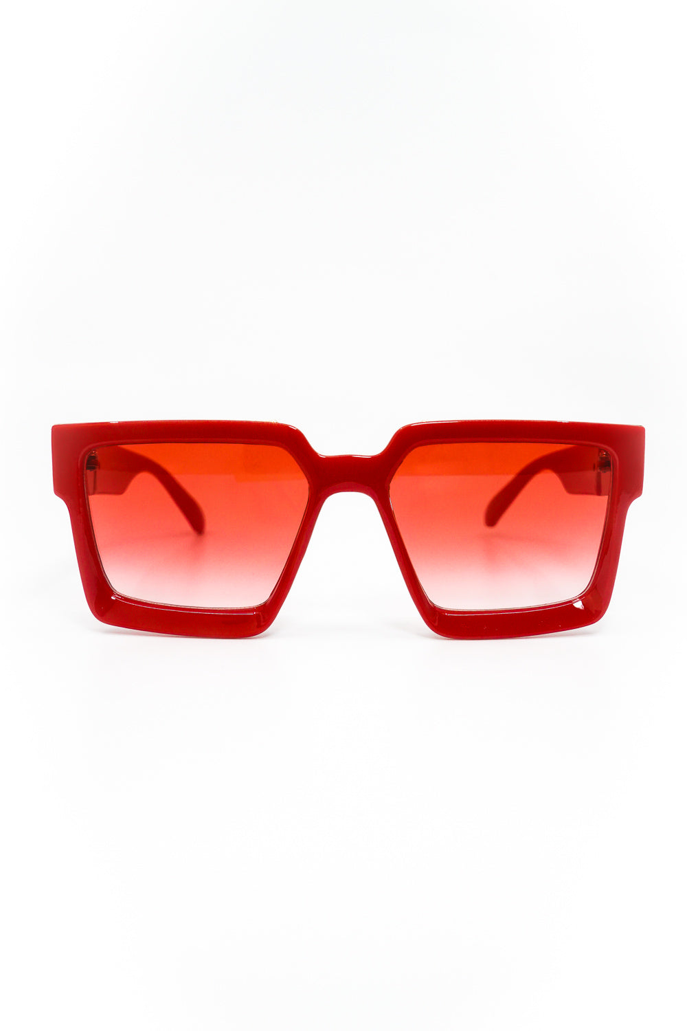 Seasons Hottest Thickened Square Frame Sunglasses in Red - Fashion House USA