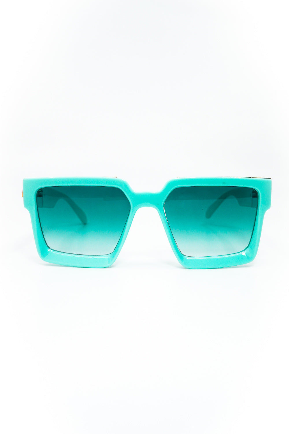 Seasons Hottest Thickened Square Frame Sunglasses in Mint and Light Blue - Fashion House USA