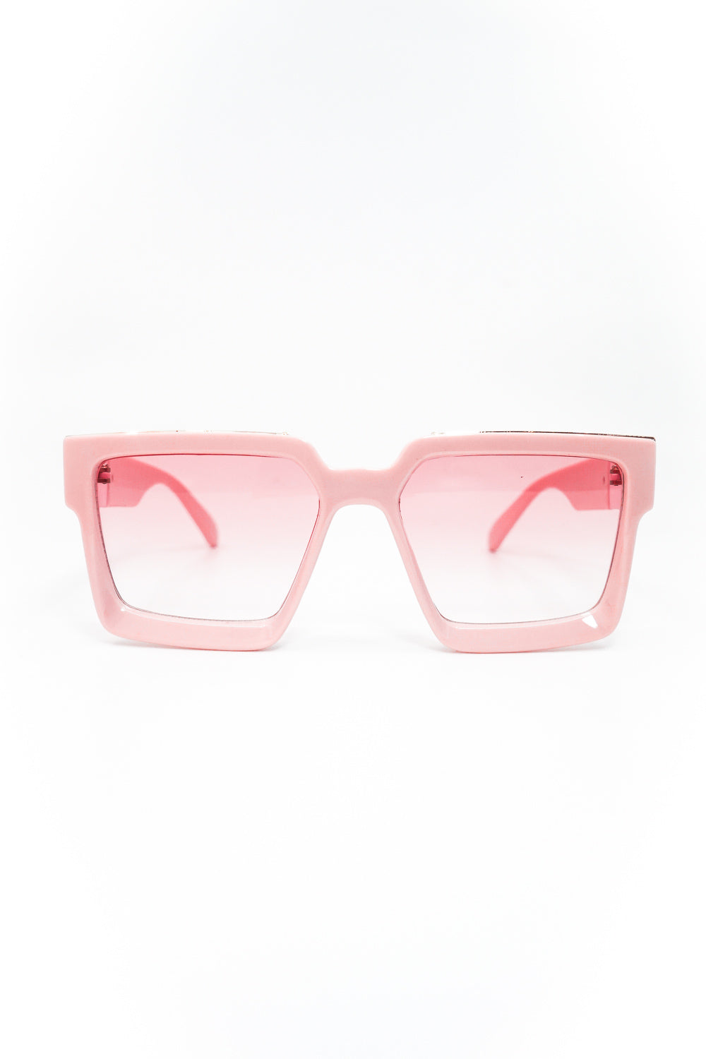 Seasons Hottest Thickened Square Frame Sunglasses in Pink - Fashion House USA