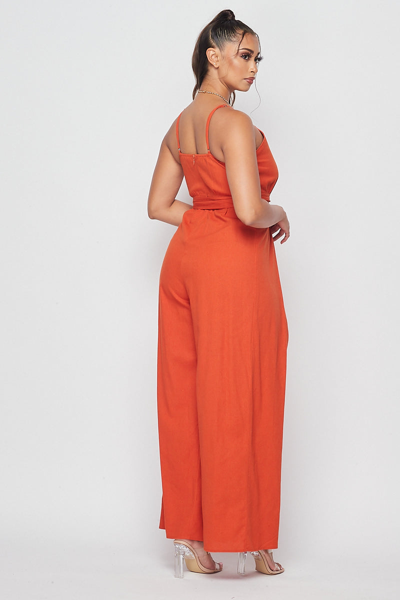 Sexy Sleeveless Jumpsuits-RUST - Fashion House USA