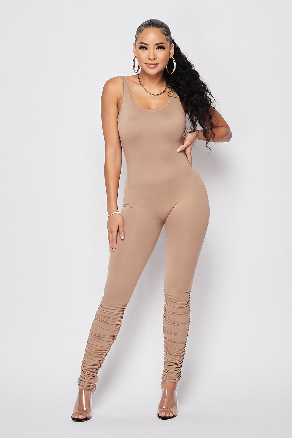Sexy Fitted Jumpsuit-KHAKI - Fashion House USA