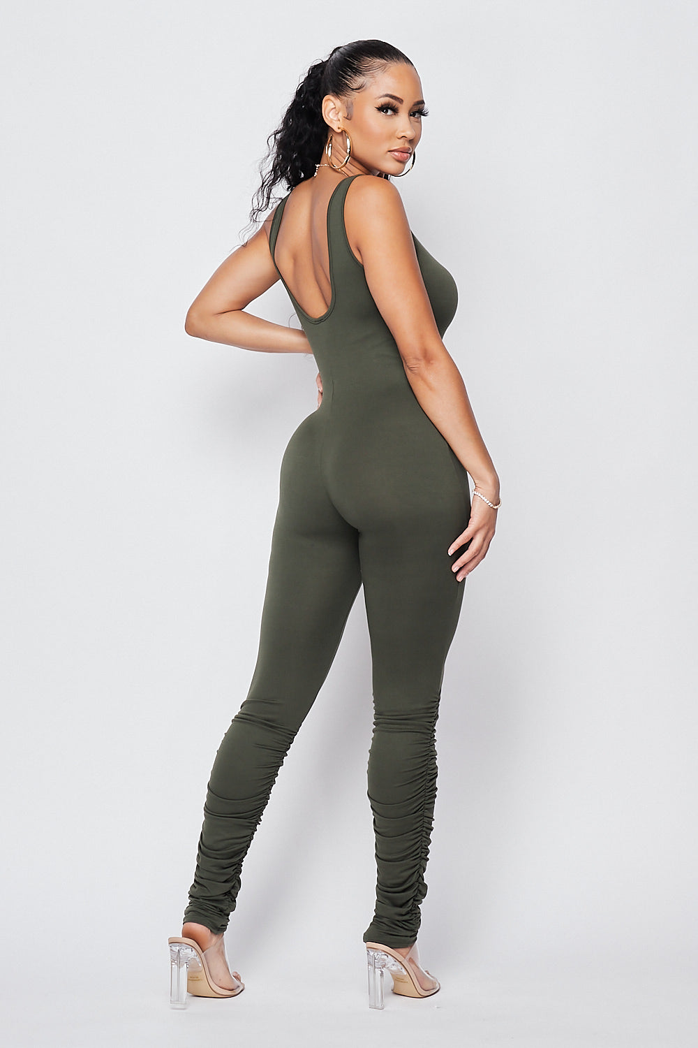 Sexy Fitted Jumpsuit-OLIVE - Fashion House USA