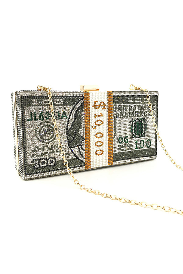 Must Have Sexy 10k Money Clutch Crossbody Bag Grey - Fashion House USA