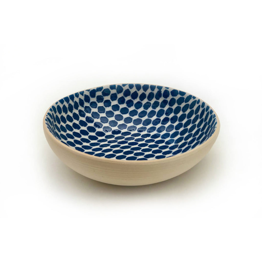 Cobalt Dot Bowl, 8""