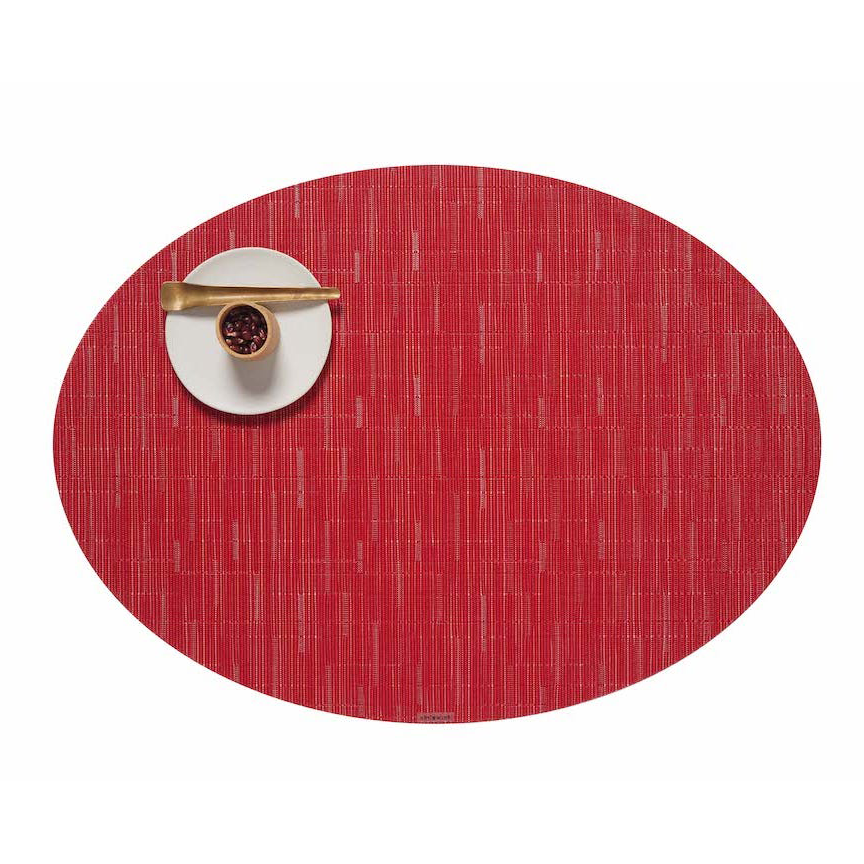 Poppy Bamboo Oval Placemat