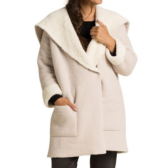 Cozychic Shearling Drape Car Coat