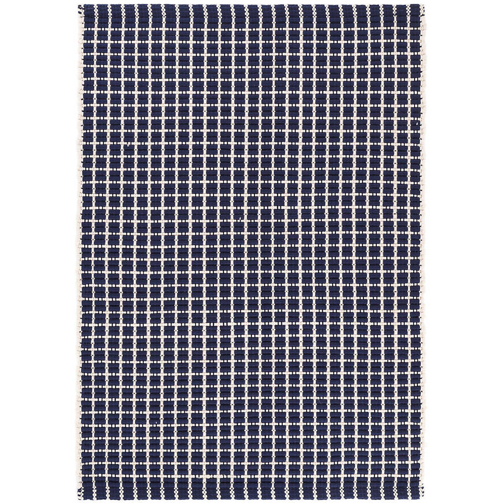 Gridiron Indoor/Outdoor Rug, Navy
