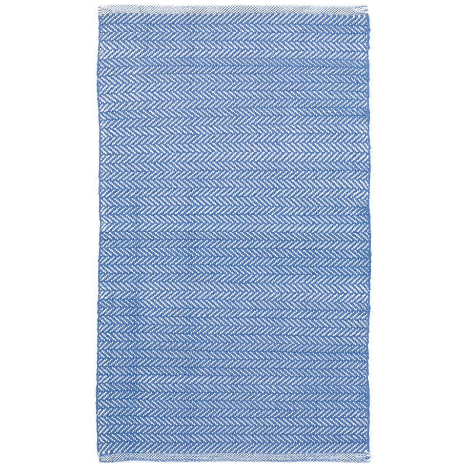 Herringbone Indoor/Outdoor Rug, French Blue/White