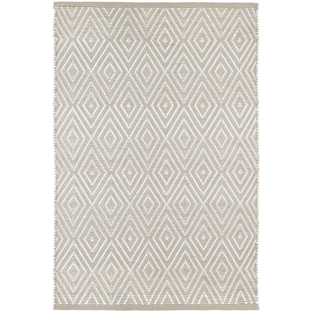 Diamond Indoor/Outdoor Rug, Platinum/White