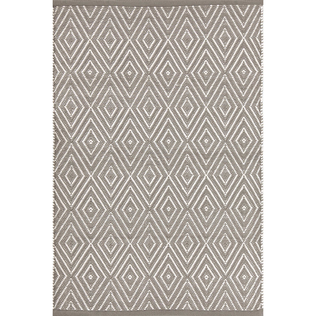 Diamond Indoor/Outdoor Rug, Fieldstone/Ivory