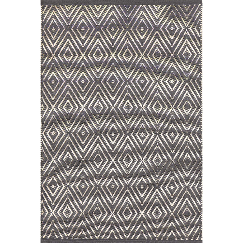 Diamond Indoor/Outdoor Rug, Graphite/Ivory