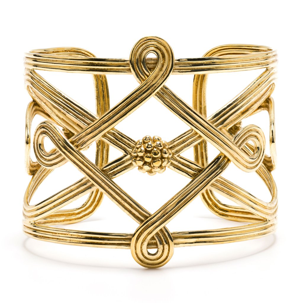 Gold Monique Compass Cuff