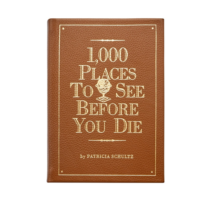 Leather 1,000 Places to See Before You Die Book