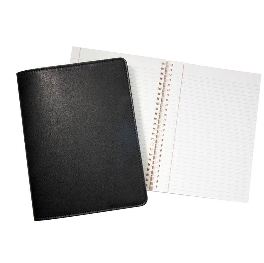 "9"" Traditional Leather Refillable Notebook"