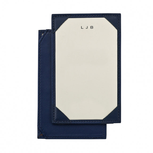 Leather Jotter with Personalized Cards