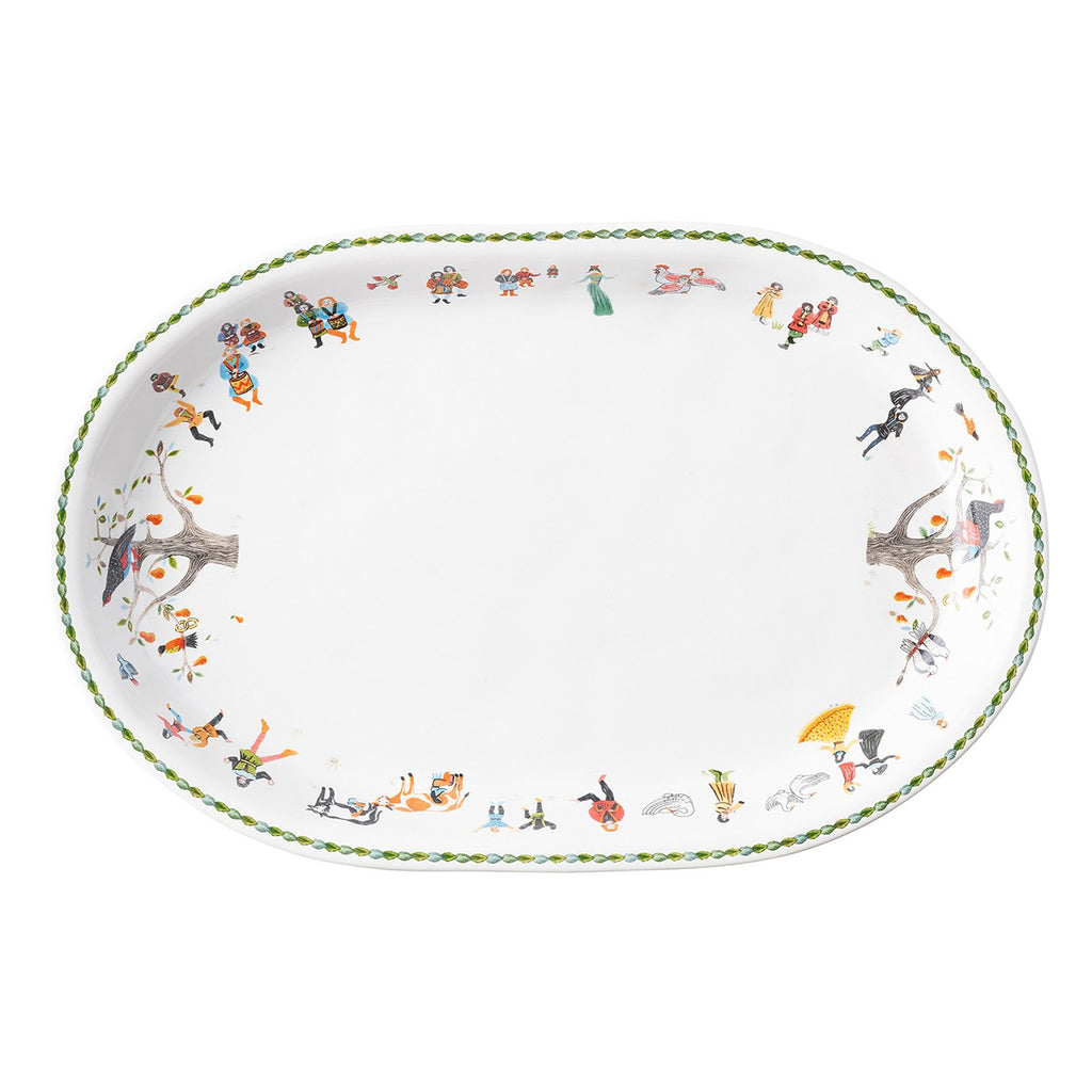 Twelve Days of Christmas Oval Platter