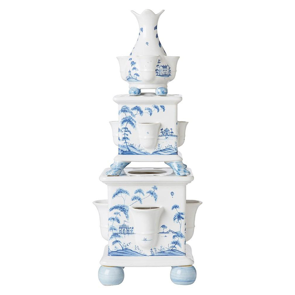 Country Estate Delft Blue Tulipiere Tower Set/3