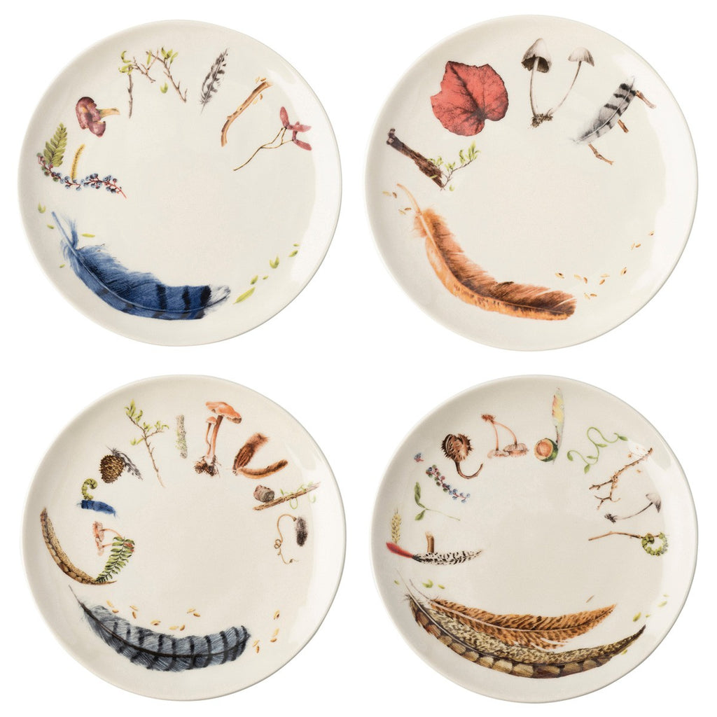 Forest Walk Sentiment Tidbit Plates, Set/4