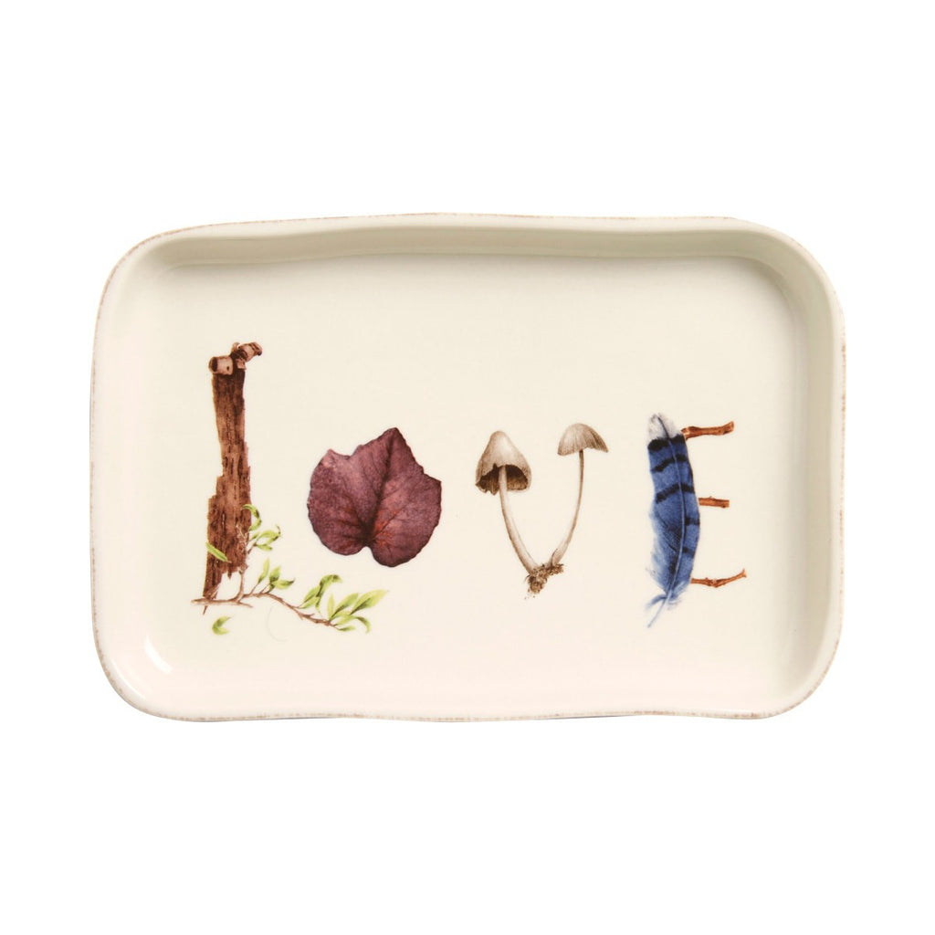"Forest Walk ""Love"" Tray, 7.5"""