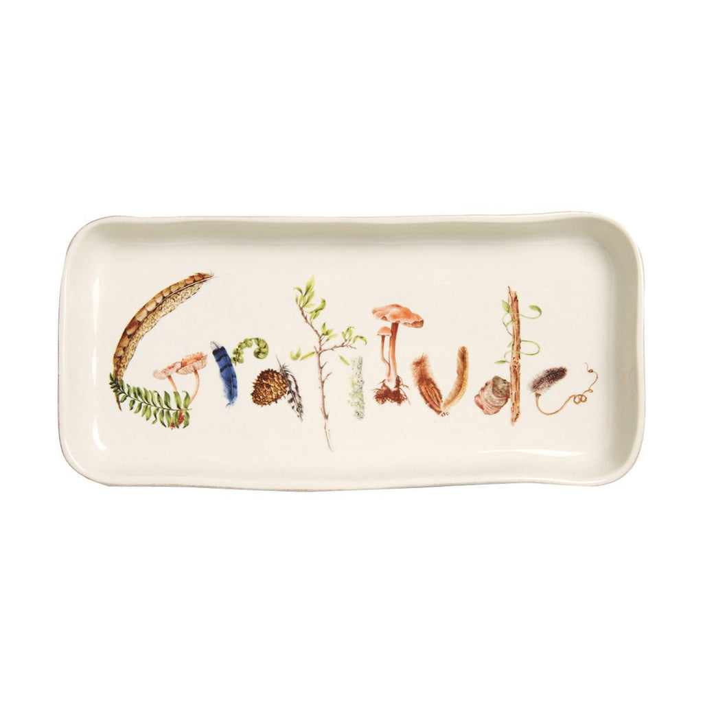"Forest Walk ""Gratitude"" Tray, 10.5"""