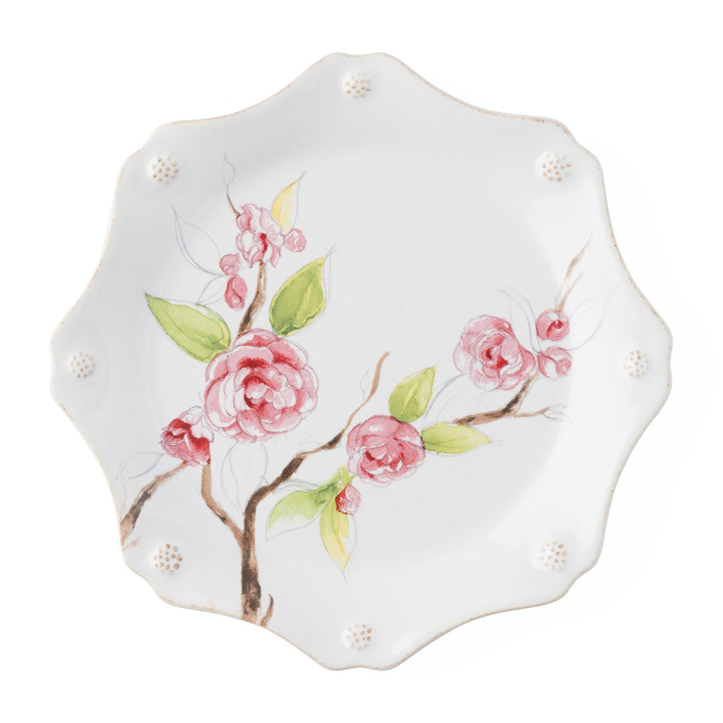 Berry & Thread Floral Sketch Camellia Dessert/Salad Plate