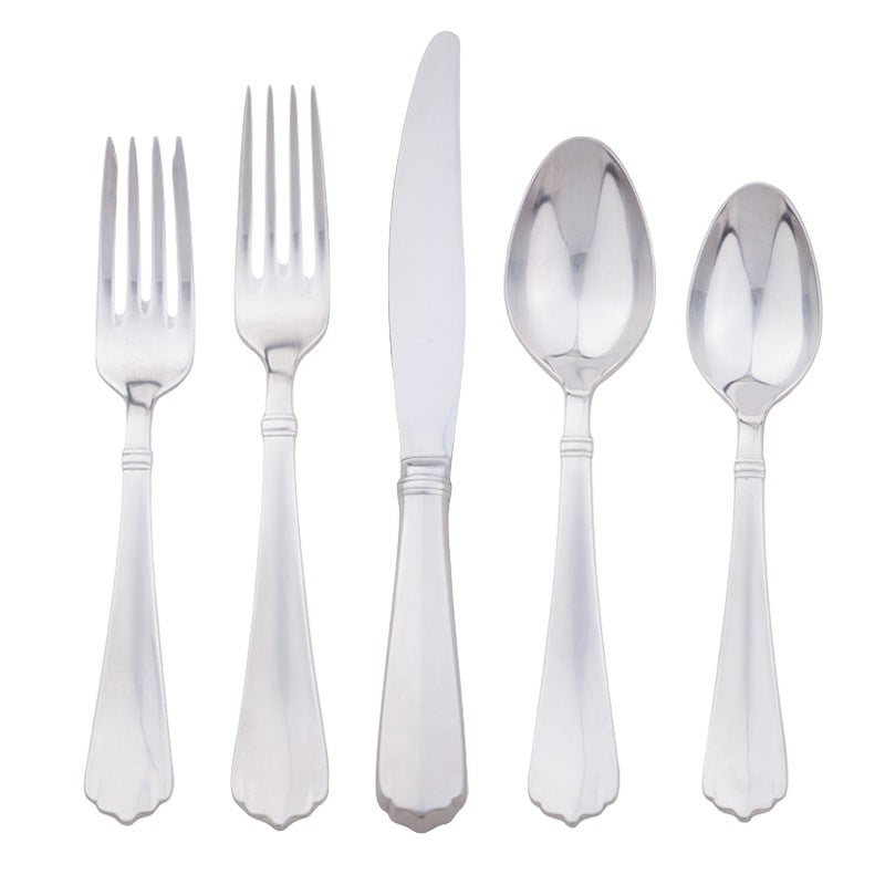 Kensington Bright Satin 5-Piece Flatware Set
