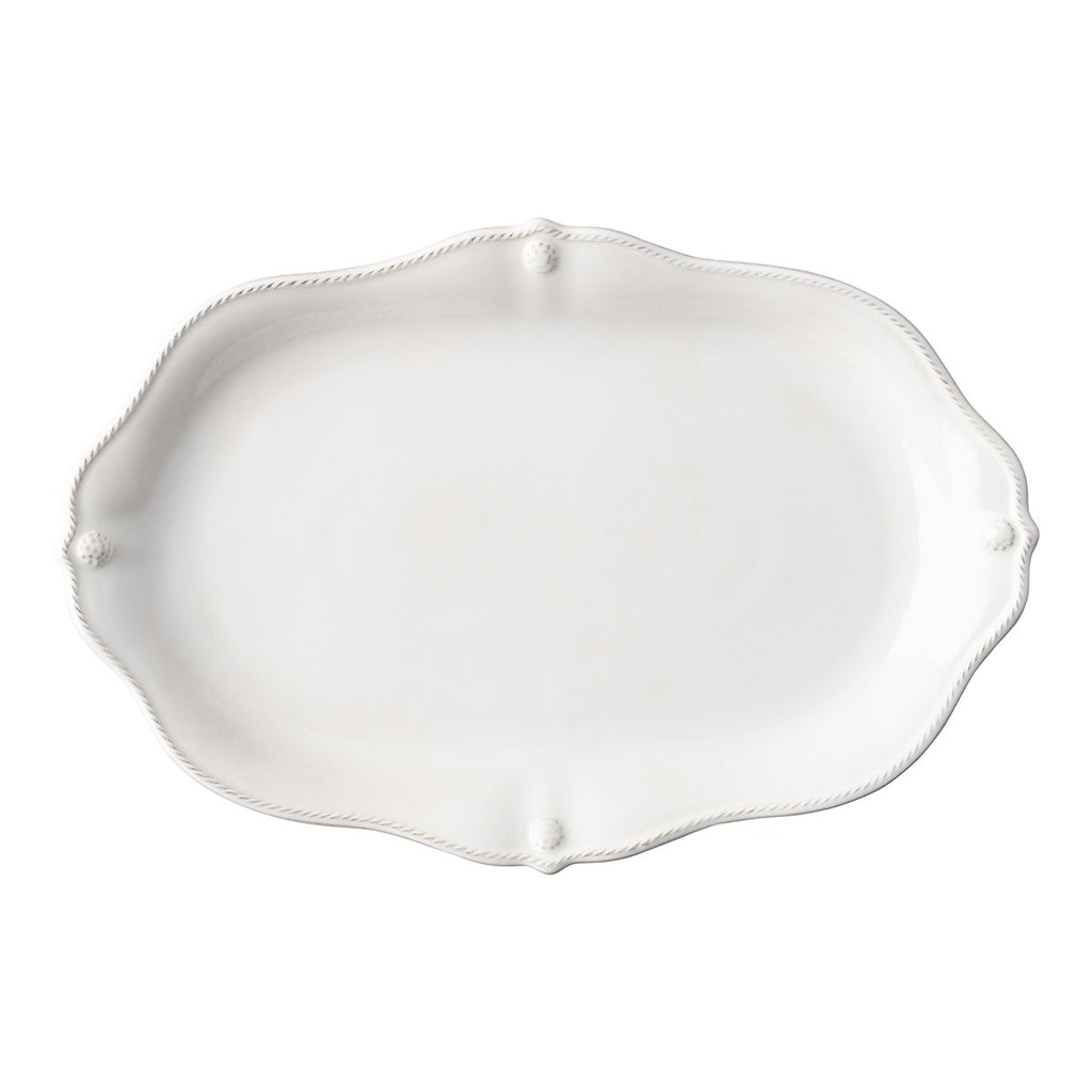 "Berry & Thread Whitewash 15"" Platter"
