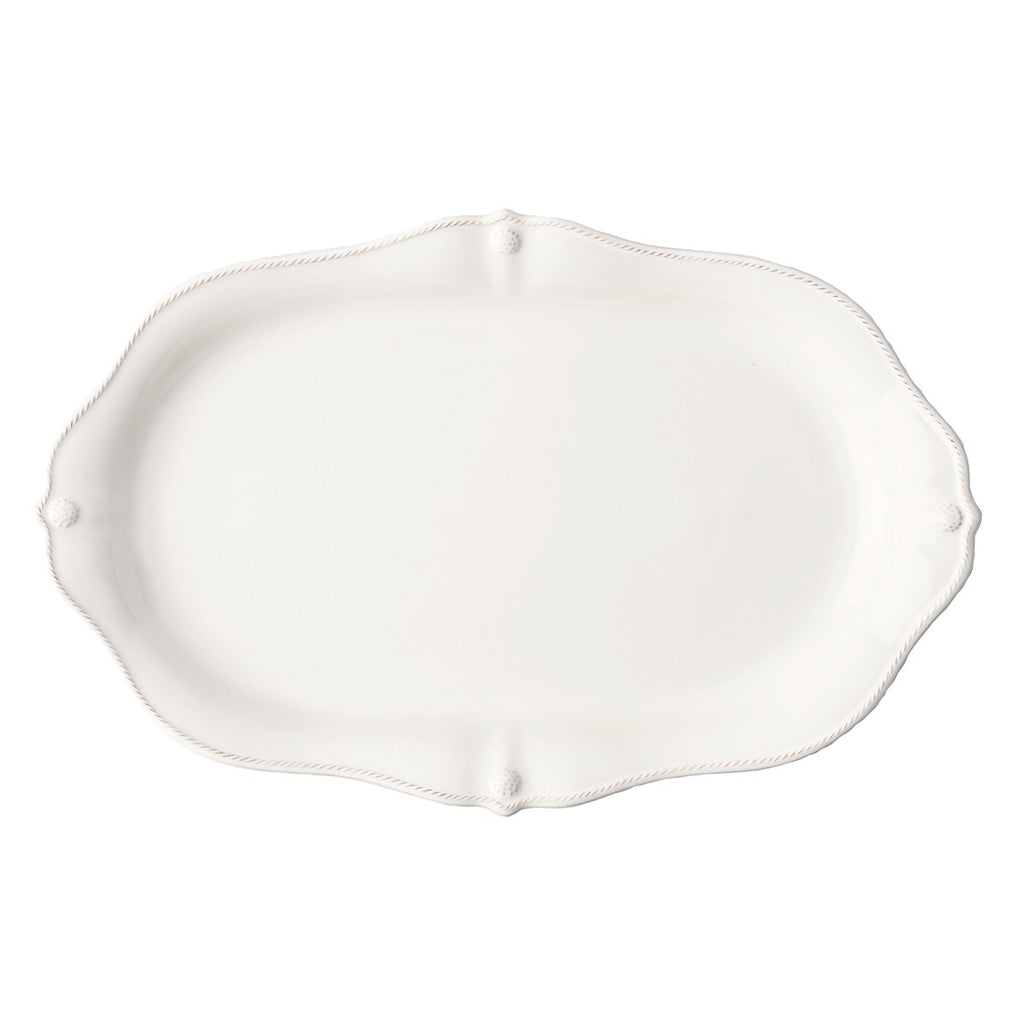 "Berry & Thread Whitewash 19"" Platter"