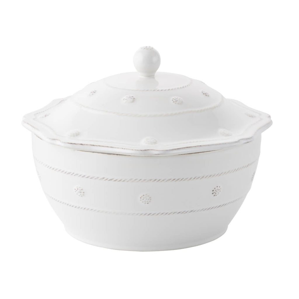 "Berry & Thread Whitewash 9.5"" Covered Casserole"