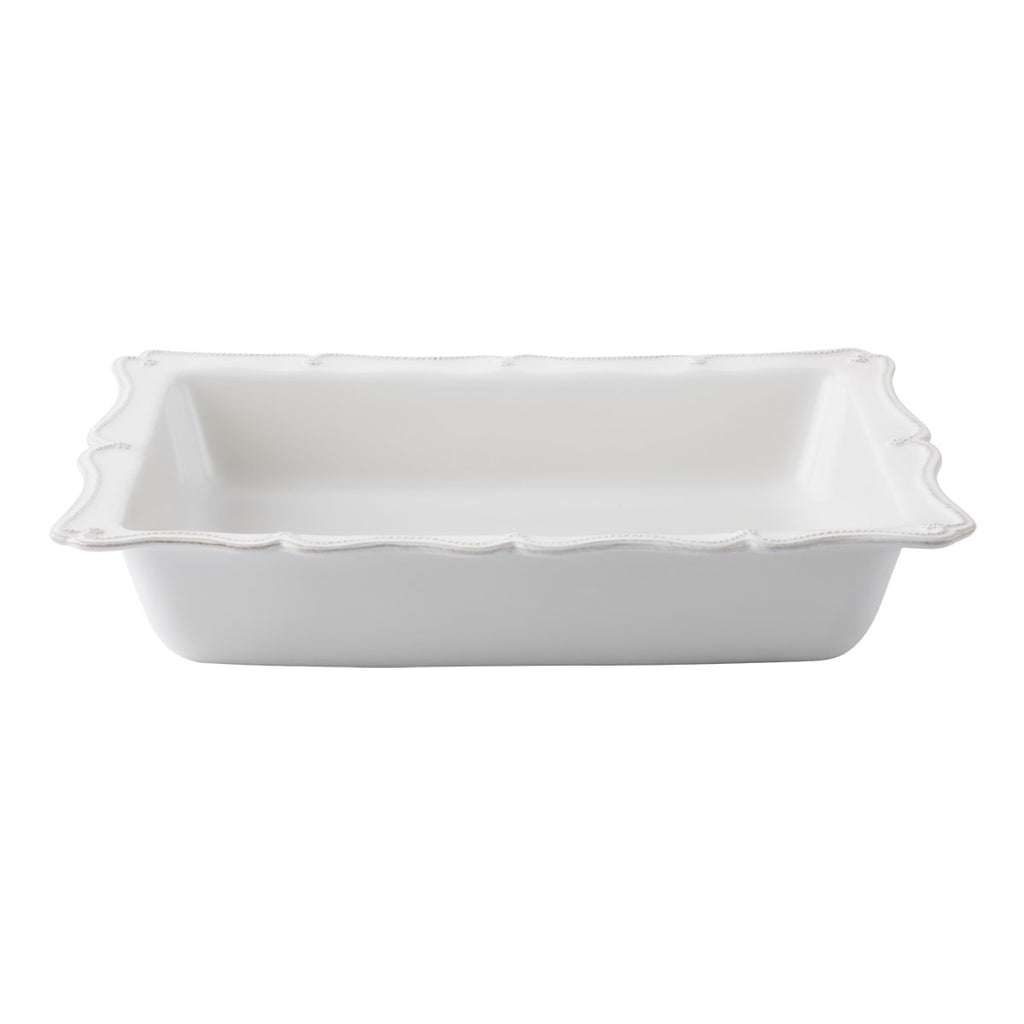 "Berry & Thread Whitewash 17.5"" Rectangular Baker"
