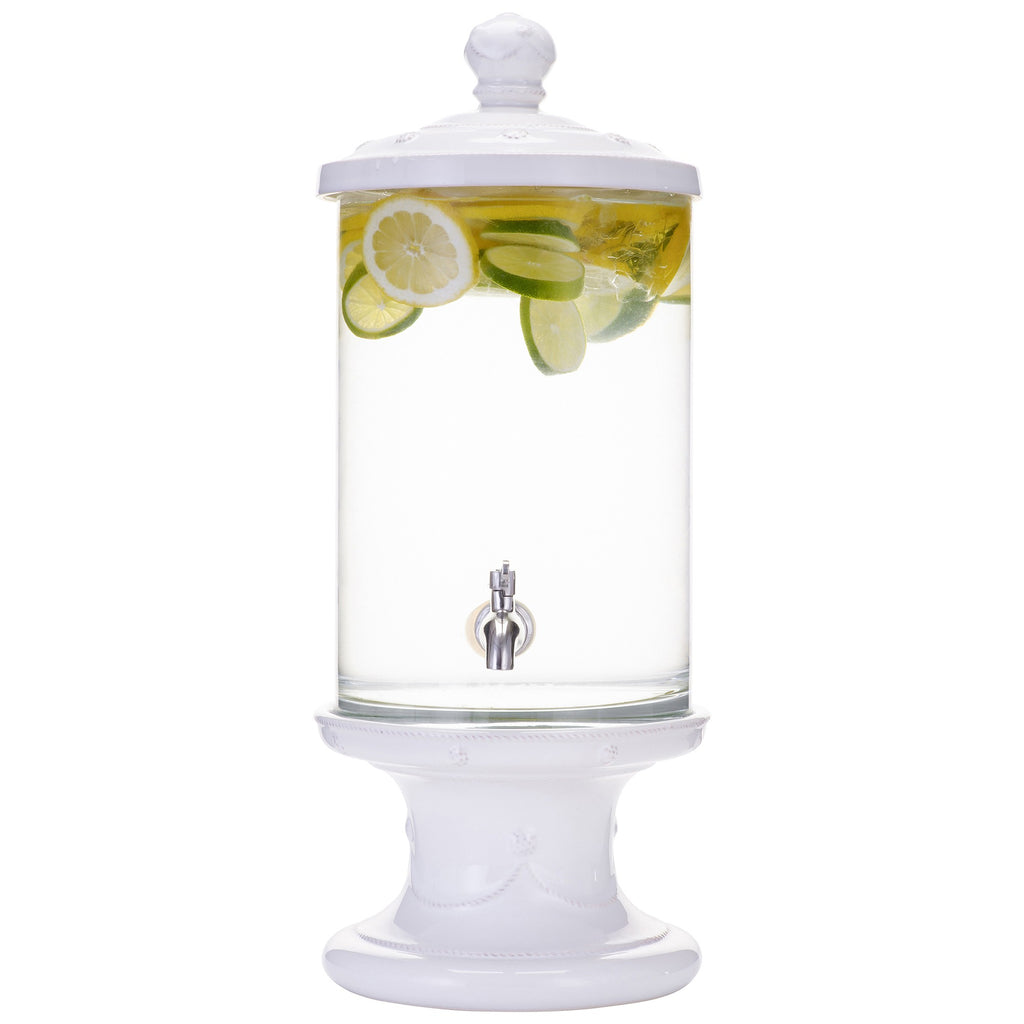 Berry & Thread Whitewash Beverage Dispenser Set