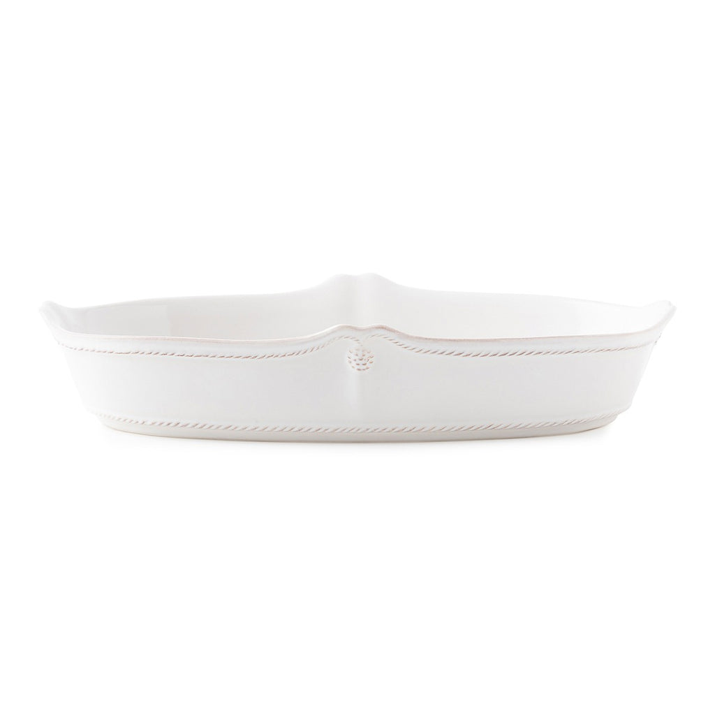 "Berry & Thread Whitewash 12"" Oblong Serving Dish"