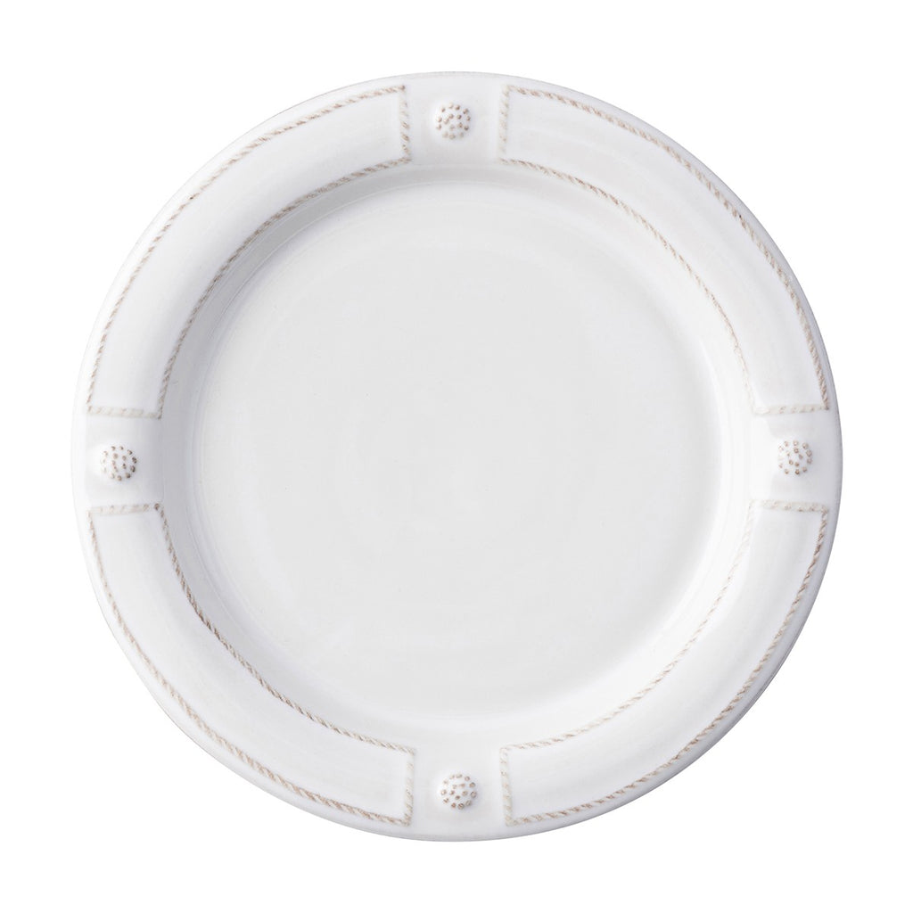 French Panel Whitewash Dinner Plate