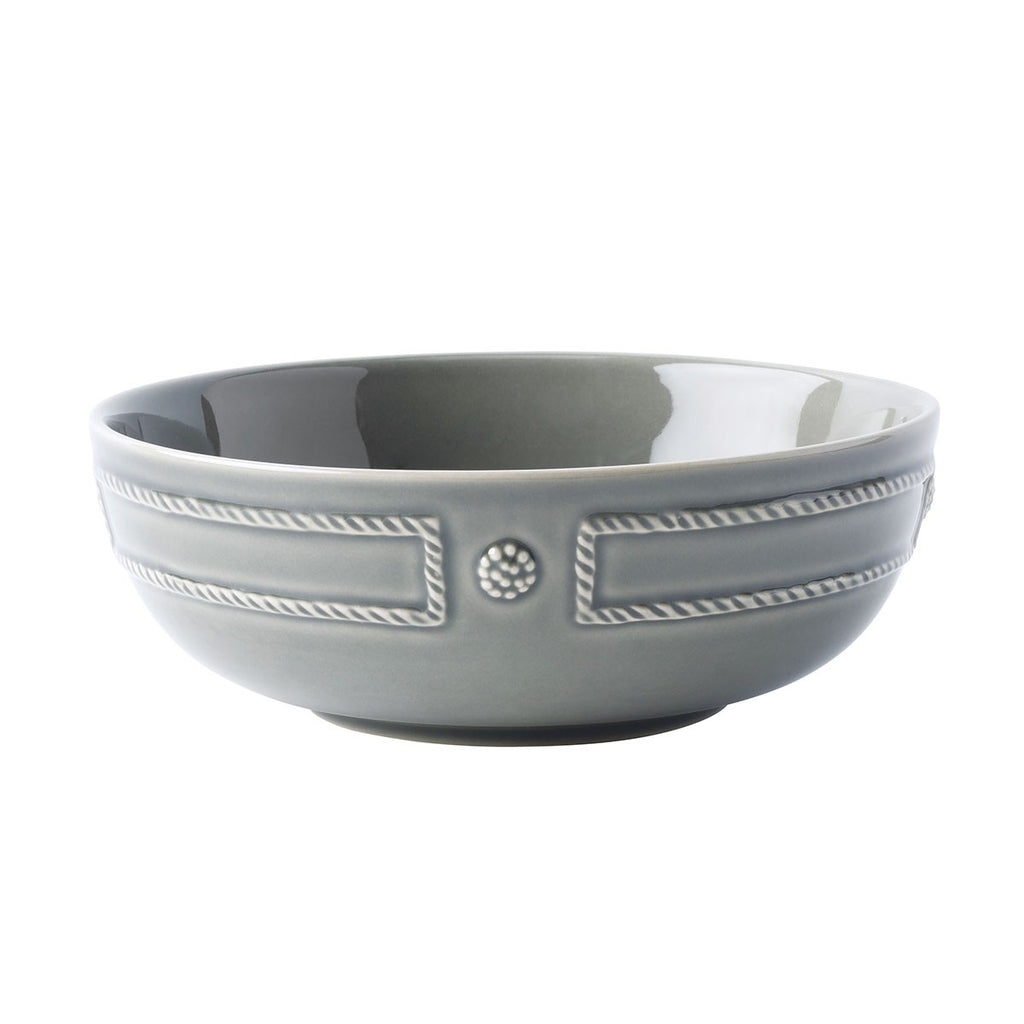 French Panel Stone Grey Coupe Pasta Bowl