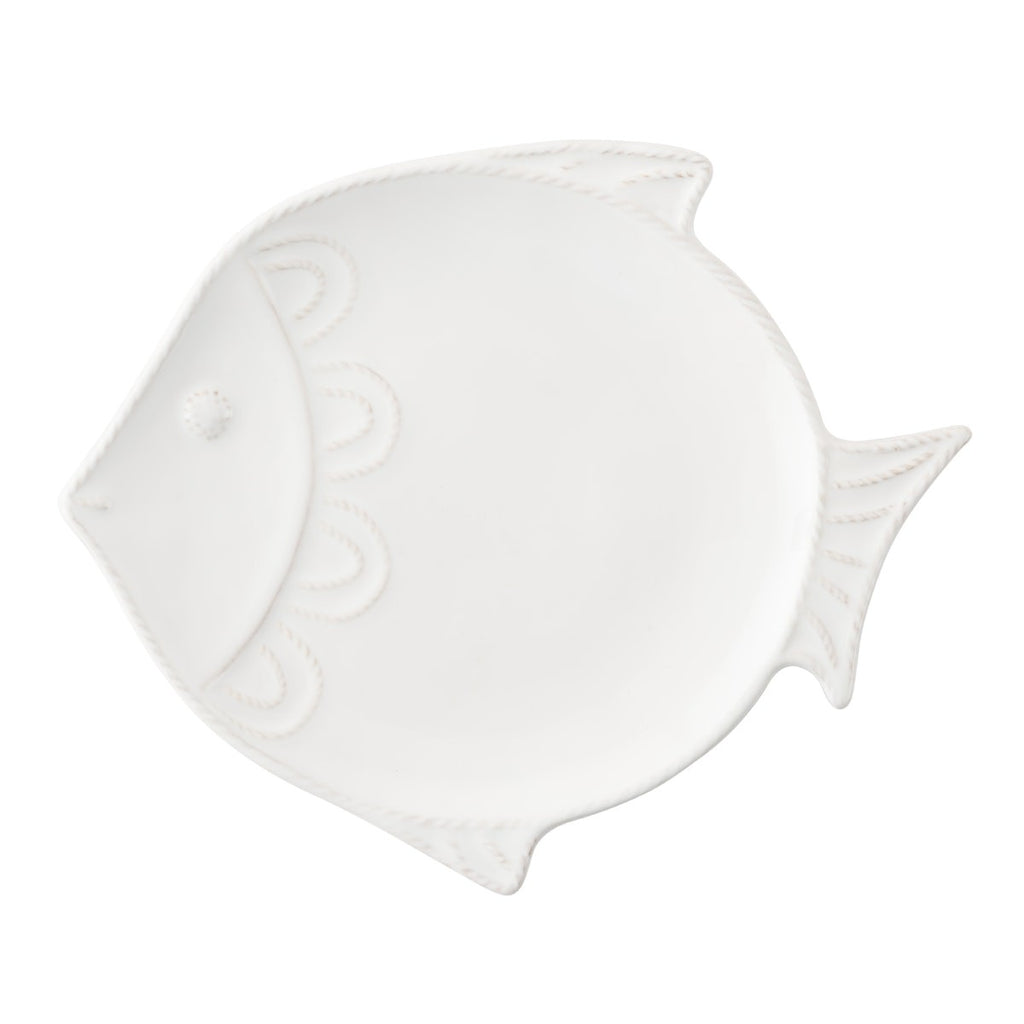 Berry & Thread Whitewash Fish Dessert/Salad Plate