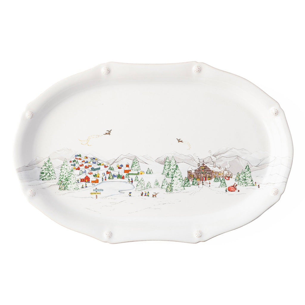 "Berry & Thread North Pole 17"" Platter"