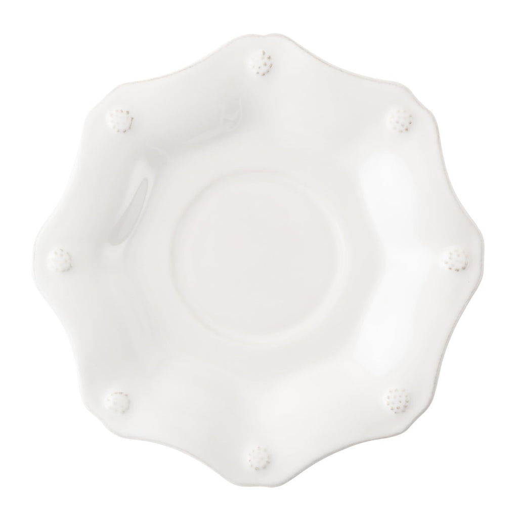 Berry & Thread Whitewash Scallop Saucer