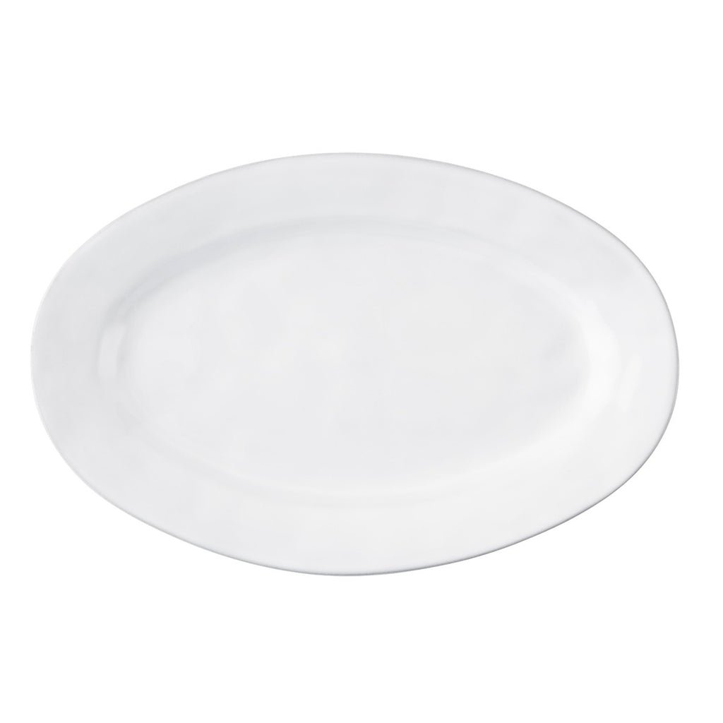 "Quotidien White Truffle 21"" Oval Platter"