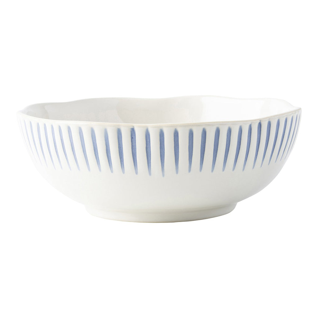 Sitio Stripe Indigo Coupe Bowl